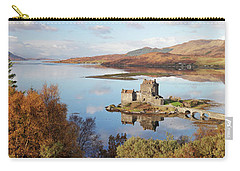 Eilean Donan Castle Panorama In Autumn Carry-all Pouch by Grant Glendinning