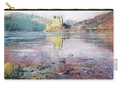 Carry-all Pouch featuring the painting Eilean Donan Castle  by Richard James Digance