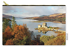 Eilean Donan Reflection In Autumn Carry-all Pouch by Grant Glendinning