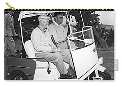 Eisenhower In A Golf Cart Carry-all Pouch by Underwood Archives