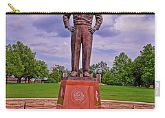 Eisenhower Museum Courtyard Memorial 001 Carry-all Pouch by George Bostian