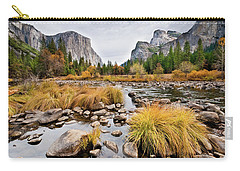 El Capitan And The Merced River In The Fall Carry-all Pouch