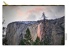 El Capitan Glowing Horsetail Falls Carry-all Pouch