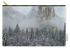 Carry-all Pouch featuring the photograph El Capitan Majesty - Yosemite Np by Sandra Bronstein