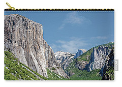 El Capitan, Three Brothers And Half Dome Carry-all Pouch