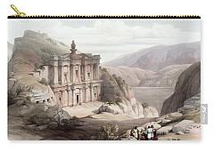 El Deir Petra 1839 Carry-all Pouch by Munir Alawi