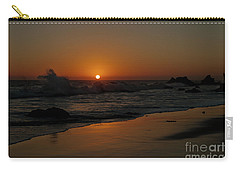 Carry-all Pouch featuring the photograph El Matador Sunset by Ivete Basso Photography
