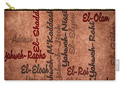 Carry-all Pouch featuring the digital art El-olam by Angelina Vick
