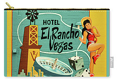 Carry-all Pouch featuring the photograph El Rancho by Jeff Burgess