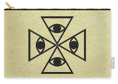 Carry-all Pouch featuring the digital art El Topo by Ayse Deniz