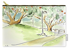 Carry-all Pouch featuring the painting El Toro Park by Maria Langgle