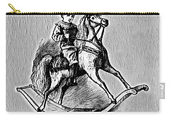 Carry-all Pouch featuring the digital art Elaborate Rocking Horse by Pennie McCracken