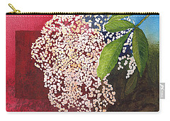 Elderberry Blossom In Watercolor Carry-all Pouch
