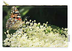 Elderflower And Butterfly Carry-all Pouch