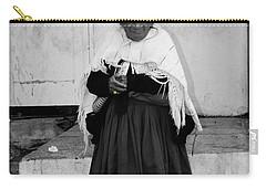 Elderly Beggar In Biblian Carry-all Pouch by Al Bourassa