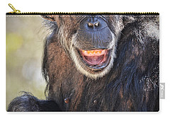 Elderly Chimp Enjoying The Warm Summer Afternoon Carry-all Pouch