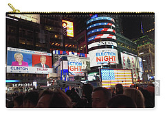 Election Night In Times Square 2016 Carry-all Pouch