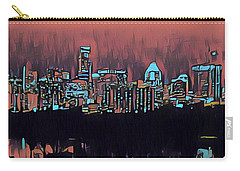 Electric Austin At Dusk Carry-all Pouch