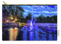 Carry-all Pouch featuring the photograph Electric Fountain  by Scott Carruthers