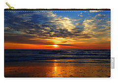 Electric Golden Ocean Sunrise Carry-all Pouch by Dianne Cowen
