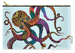 Electric Octopus - Customizable Background Carry-all Pouch by Tammy Wetzel