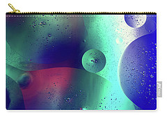 Carry-all Pouch featuring the photograph Electric Oil Droplets Number One by John Williams