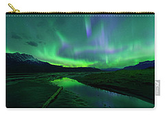 Electric Skies Over Jasper National Park Carry-all Pouch