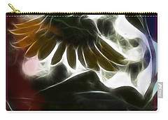 Carry-all Pouch featuring the photograph Electric Sunflower by EricaMaxine  Price