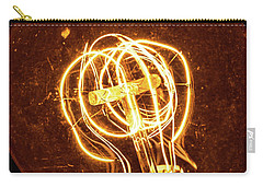 Carry-all Pouch featuring the photograph Electricity Through Tungsten by T Brian Jones