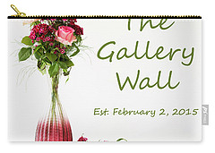 Carry-all Pouch featuring the photograph Elegance-the Gallery Wall Logo by Wendy Wilton