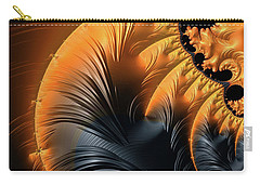 Carry-all Pouch featuring the digital art Elegant Abstract Art With Warm Colors by Matthias Hauser