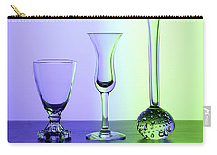 Elegant Crystal Glass Curves In Blue And Green Carry-all Pouch