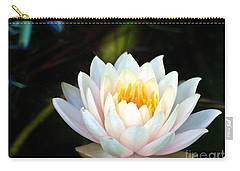 Elegant White Water Lily Carry-all Pouch