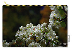 Elegantly White Carry-all Pouch by Vicki Pelham