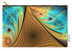 Carry-all Pouch featuring the digital art Element by Anastasiya Malakhova