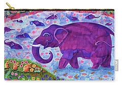 Elephant And Mice Carry-all Pouch