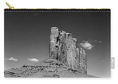 Elephant Butte In Black And White Carry-all Pouch by David Cote