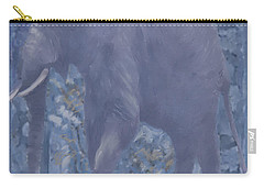 Elephant Facing Left Carry-all Pouch
