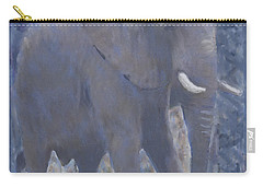 Elephant Facing Right Carry-all Pouch