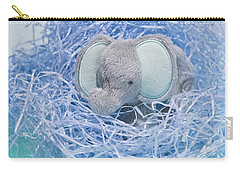 Elephant For Charity Blue Carry-all Pouch