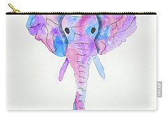 Elephant Head In Watercolour  Carry-all Pouch