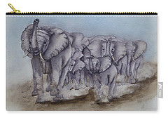 Elephant Herd Gallop Carry-all Pouch