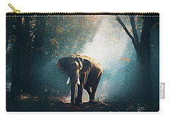 Elephant In The Mist - Painting Carry-all Pouch