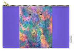 Carry-all Pouch featuring the painting Elephant Spirit by Denise Tomasura
