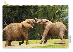 Elephants At Play 2 Carry-all Pouch