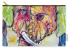 Elephants In Love Carry-all Pouch by Kovacs Anna Brigitta