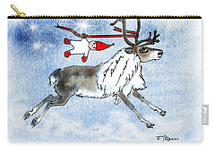 Elf And Reindeer Carry-all Pouch