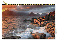 Carry-all Pouch featuring the photograph Elgol Stormy Sunset by Grant Glendinning