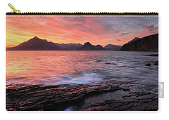 Carry-all Pouch featuring the photograph Elgol Sunset - Isle Of Skye 2 by Grant Glendinning