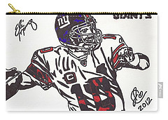 Carry-all Pouch featuring the drawing Eli Manning by Jeremiah Colley